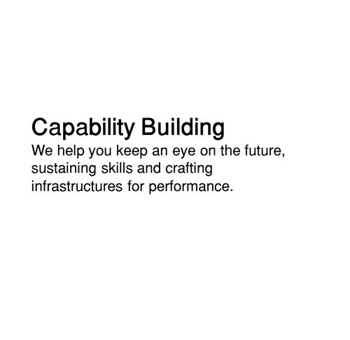 Capability Building that allows digital transformation