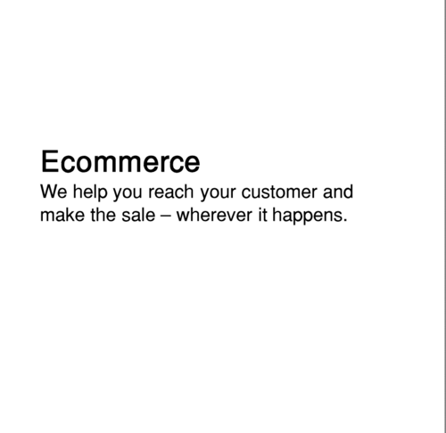 One stop E-commerce from branded storefronts to fulfilment and collections