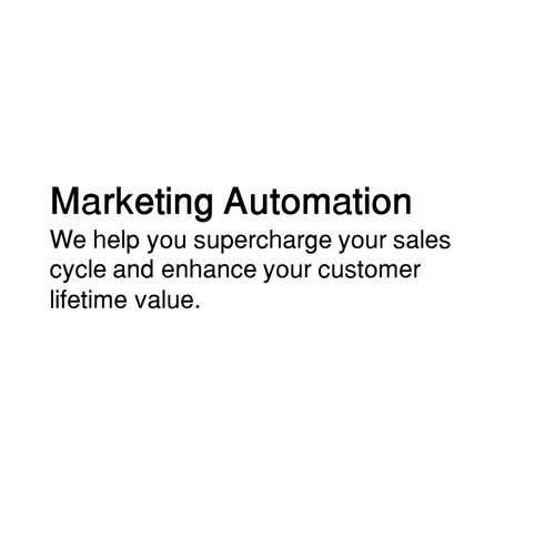 Marketing automation that turns leads into customers