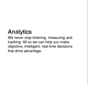 Analytics that deliver useful practical insights