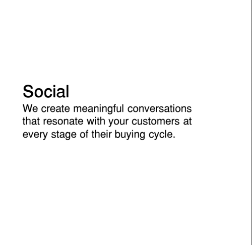 Social media strategy that engages with customers
